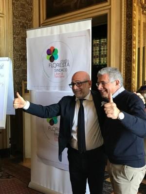 Otello Floresta con l'attuale sindaco di Battiati, Carmelo Galati