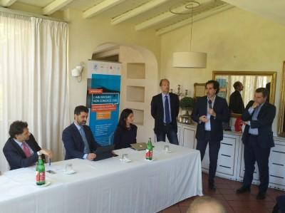 Worshop Federalberghi, da sinistra: Barbagallo, Torrisi, Murabito, Del Bono, Farruggio, Randone
