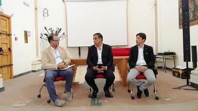 Da sinistra Salvatore Bonajuto, Giovanni Leonardi e Fabio Cantarella