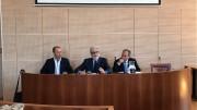 Le nuove sfide della sanità in Sicilia. Da sinistra prof. Giuseppe Navarra, il prof. Giovanni Tuccari e il dott. Walter Messina
