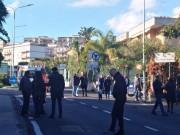 Protesta lavoratori Pubbliservizi davanti all'ex Provincia Regionale di Catania