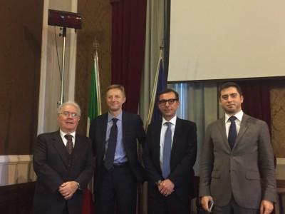 Da sinistra: Domenico Platania, Victor Hamotskyi, Salvatore Politino e Alexander Kapustin