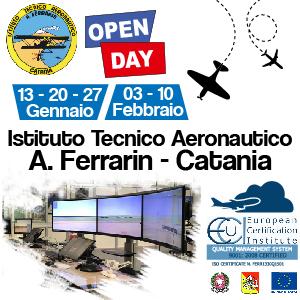 ISTITUTO TECNICO AERONAUTICO FERRARIN. Open Day 13, 20 e 27 Gennaio e 3 e 10 Febbraio