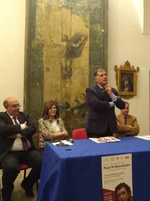 L'intervento del prof. Giansiracusa all'inaugurazione della mostra su San Sebastiano a Militello