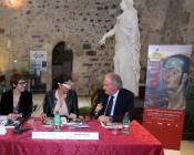 """Inaugurazione """"Io, Dalì"""". Da sinistra: Aguer, Mirabella e Nicosia"""