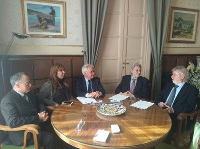 Da sinistra Pino Bulla, Gabriella Ferlito, Claudio Donati, Rosario Torrisi Rigano e Pietro Agen