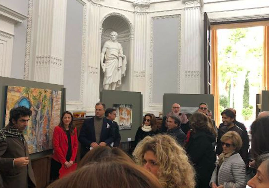 Un momento del vernissage all'Orto Botanico di Palermo - Salvatore Bonajuto
