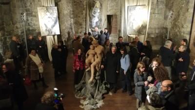 L'inaugurazione di Madre e figlio alla Cappella Bonajuto