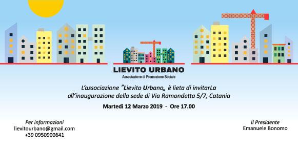 Invito inaugurazione Lievito Urbano