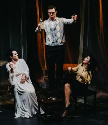 Elmo Lear, Loriana Rosto e Gaetano Festinese in Piano Piano Dolce Carlotta ph Katartica