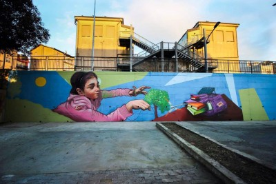 Murales Calscibetta Antonio Barbagallo (ANC)