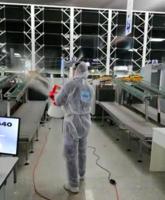 La sanificazione con atomizzatore