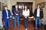 Nella foto Orazio Barbagallo,  Giovanni Mangano, avv. Mariella Falcone, avv. Alessandro Palermo