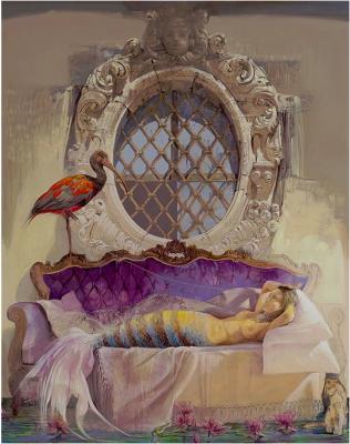 Le sirene di Ulisse, acrilico su tela 120 x 150