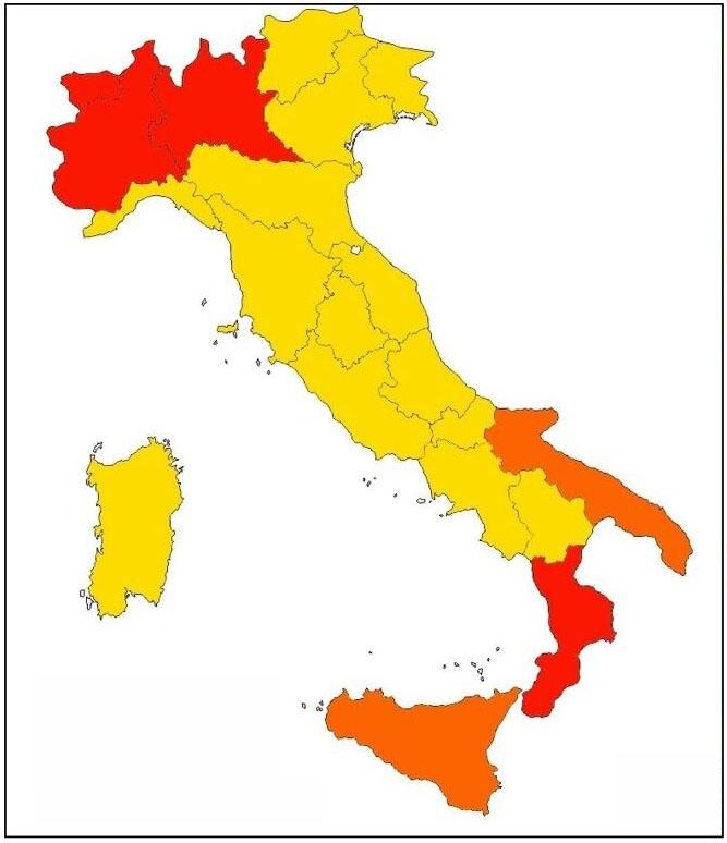 la mappa delle regioni rosse gialle arancioni-3-2
