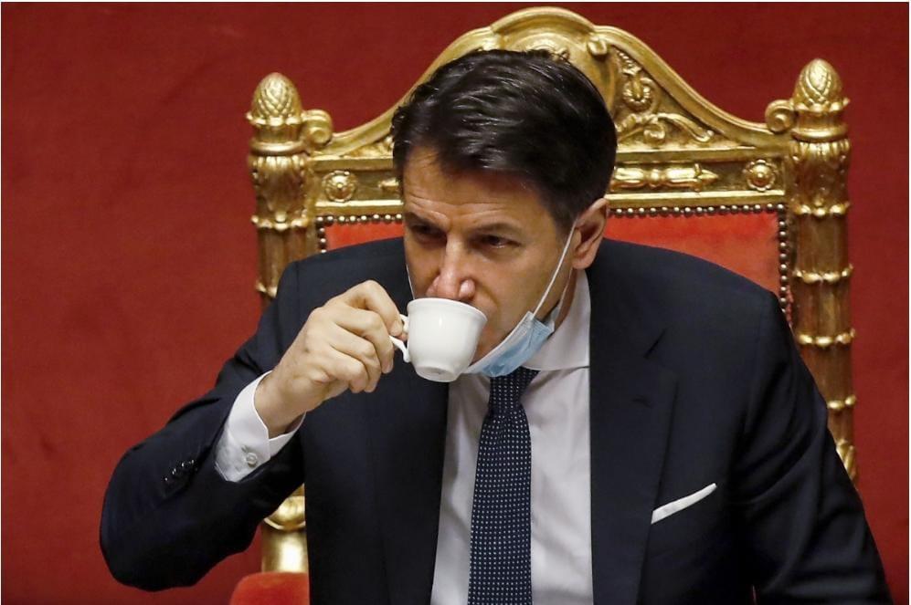 Giuseppe Conte e il caffè